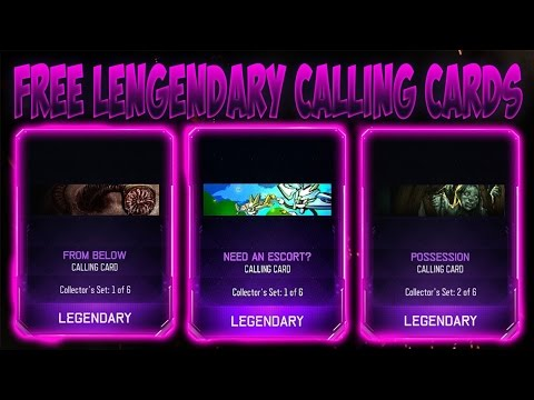 BO3 Glitches - How to get FREE LEGENDARY Calling Card Glitch! GET LEGENDARY Calling Cards For FREE!