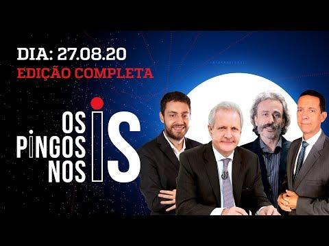 OS PINGOS NOS IS - 27/08/20 - #BARROSOPALHACO / ENTREVISTA NA LIVE DE BOLSONARO / GRETA MENTIROSA