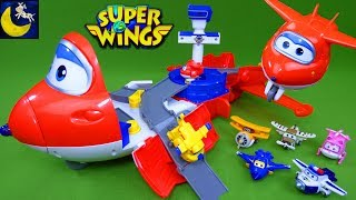 Super Wings Jett's Takeoff Tower Launcher Airport Playset Jett Donnie Jerome Dizzy Airplane Toys