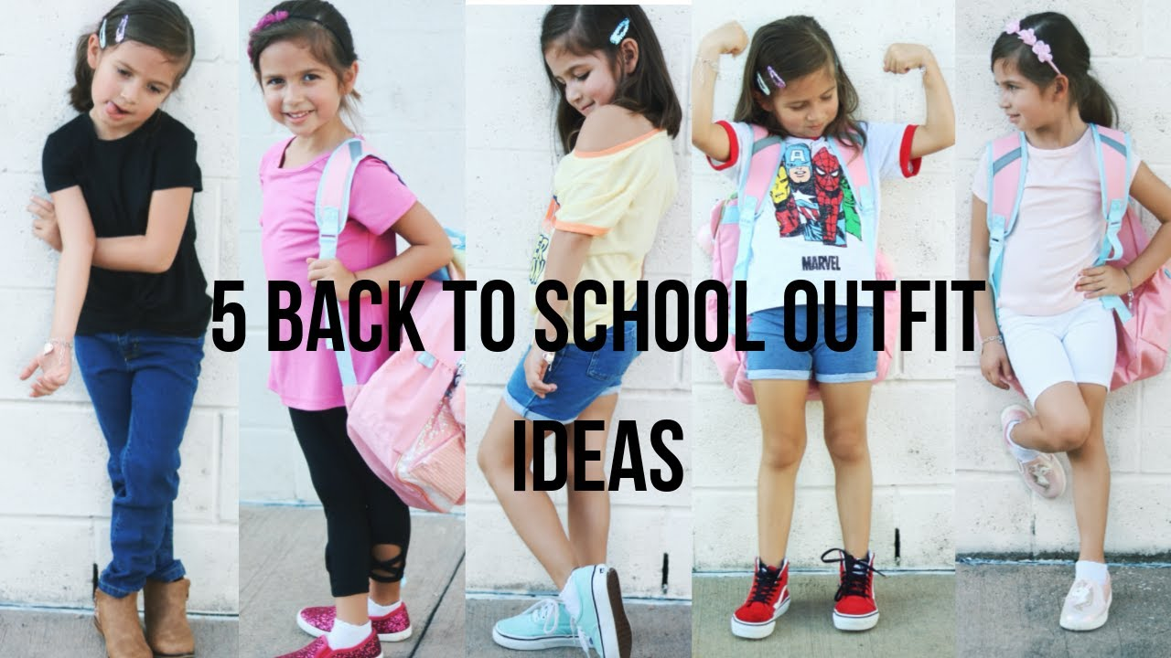 [VIDEO] - 5 Back To School Outfit Ideas *KINDERGARTEN* 1