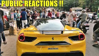 FERRARI 488 Arrives At StarBucks INDIA & This Happens - REACTIONS and More.