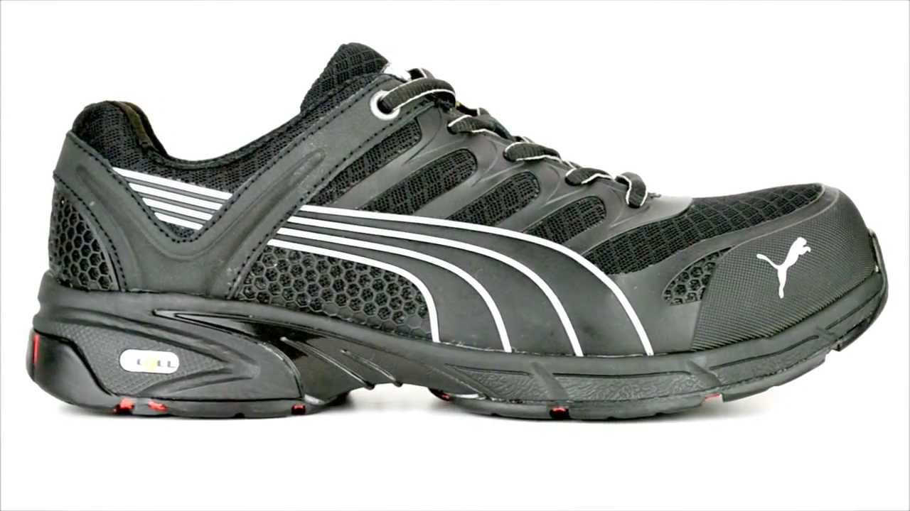 c27e7b20eb4557 Men s Puma 642585 Fuse Motion Composite Toe Metal Free Work Shoe   Steel-Toe-Shoes.com  - YouTube