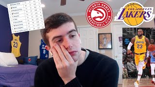 lakers fan reacts to lost vs hawks... we might actually miss the playoffs
