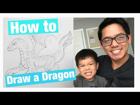 How to draw a dragon - Water Dragon
