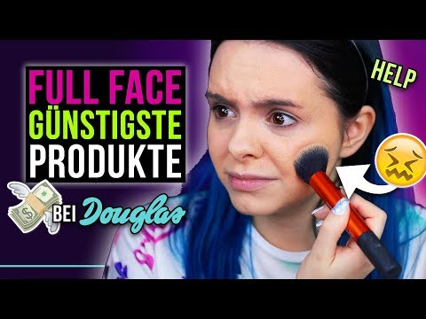 Oh oh... 👀 GANZES MAKE UP mit den GÜNSTIGSTEN Produkten von Douglas! - Full Face Cheapest Products
