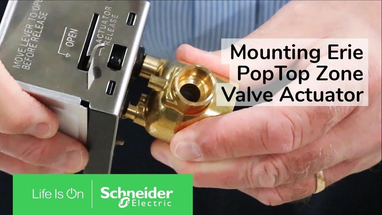 Installing Erie VT-VS PopTop Series Two Position Spring Return Valves | Schneider Electric Support