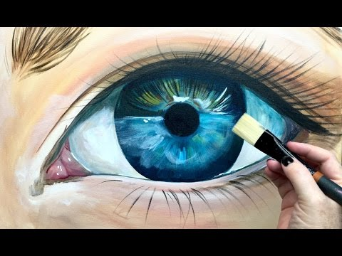 Beginner Learn to paint Realistic Eye in acrylic