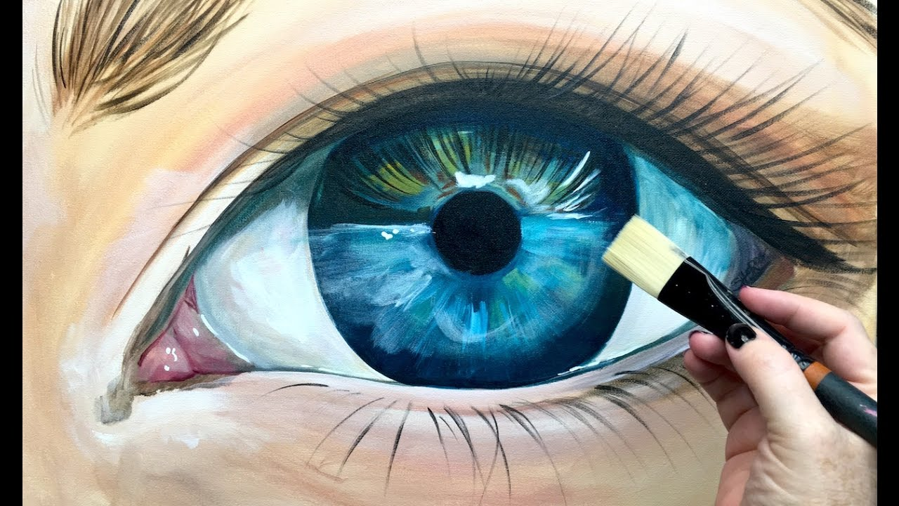 How To Paint Eyelashes With Acrylic