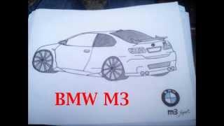 DIBUJOS DE COCHES: BMW M3, MITSUBISHI LANCER EVO X,SEAT LEON FR, VOLKSWAGEN SCIROCCO