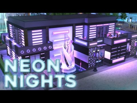 The Sims 4 Speed Build  - Nightclub (Neon Nights)