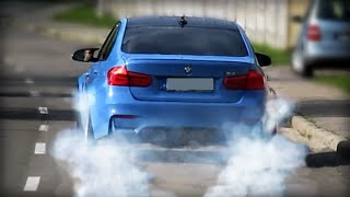 BMW M3 (F80) -LAUNCH CONTROL BURNOUT on the street!