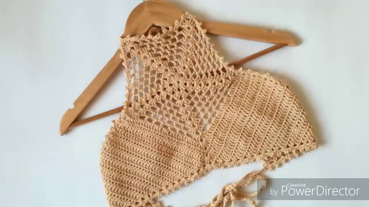7a40f3f6a TOP DE BIKINI Tejido a Crochet , TRAJE DE BAÑO (1era parte).