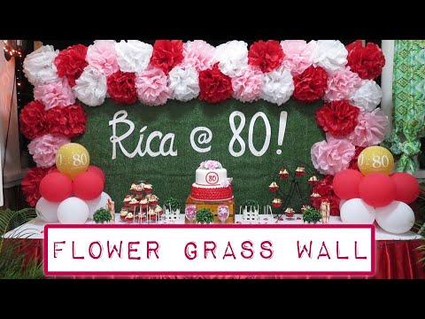 DIY BACKDROP | FLOWER GRASS WALL