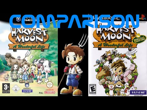 Simply Press Start-Harvest Moon: AWL And Harvest Moon: AWL SE Comparison