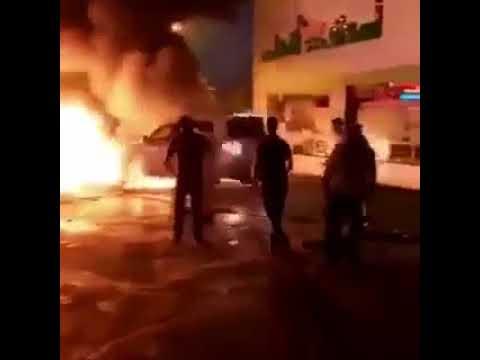 Unbelievable Saudi man pushes burning car away from gas station - تكريم راعي الجيب