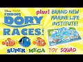 Super Mega Toy Squad - Finding Dory Toys | NEMO, DORY, & MARLIN RACE @ The Marine Life Institute!