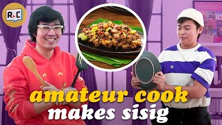 We Challenged An Amateur Cook To Make Sisig For The First Time   Filipino   Rec•Create