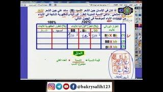الأحياء   مسائل في قانون مندل الأول   د. إدريس جلال