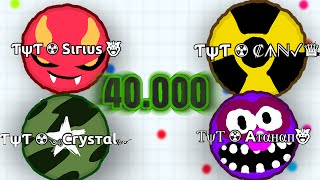40.000 Mass // TψT ☢ Clan destroying Agario Lobby // Agario Gameplay