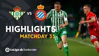 Highlights Real Betis vs RCD Espanyol (1-1)