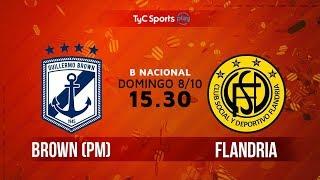 Guillermo Brown vs Flandria full match