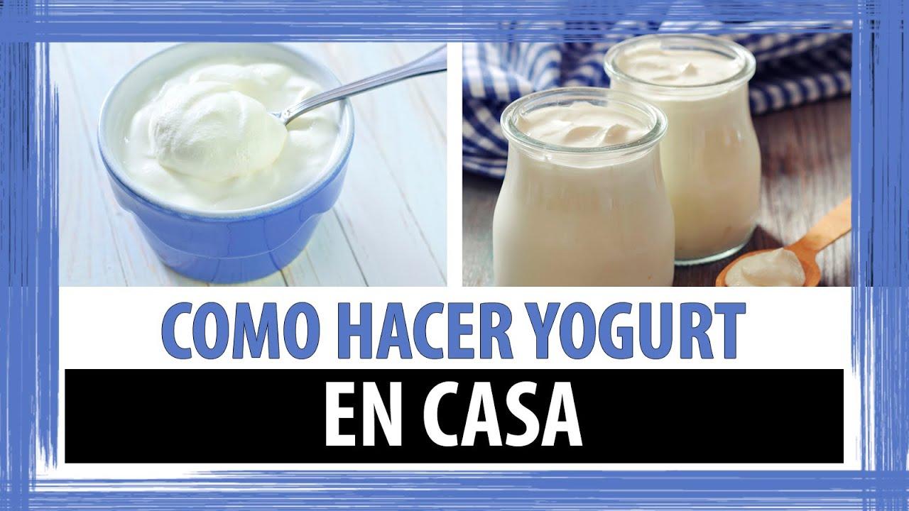 como hacer yogurt casero facil