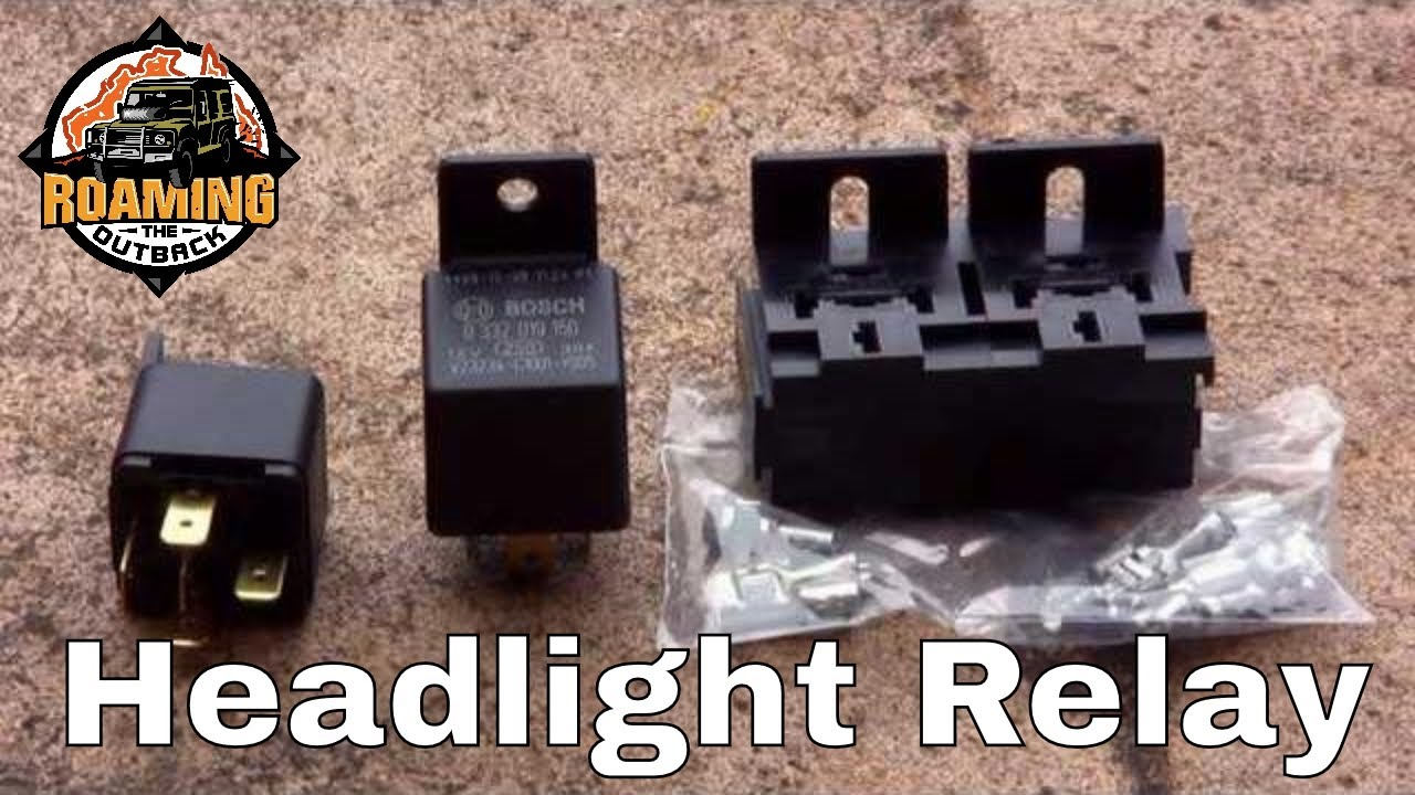 land rover defender headlight relay upgrade installation and rh youtube com 2002 Land Rover Discovery Headlights Land Rover Defender Headlights