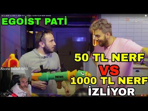 EGOİST PATİ – 50 TL NERF vs 1000 TL NERF İZLİYOR!