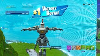 "FORTNITE First Win with ""SENTINEL"" SKIN (""ROBOT CHICKEN"" OUTFIT Showcase) 