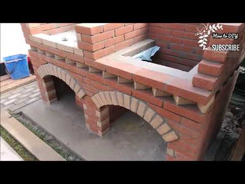 how to DIY build brick  BBQ wery good