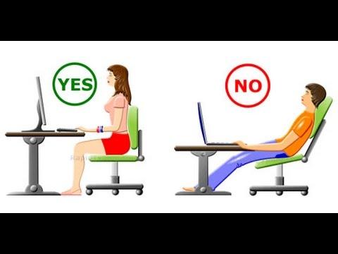 Resultado de imagen para sentarse de forma correcta