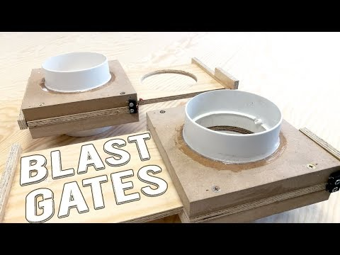 BLAST GATES for dust collection | DIY |  100mm (4inch) | micro switch