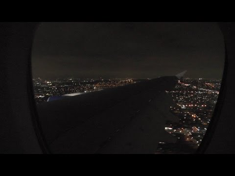 British Airways Airbus A380 ✈ Stunning Night Landing in Los Angeles LAX
