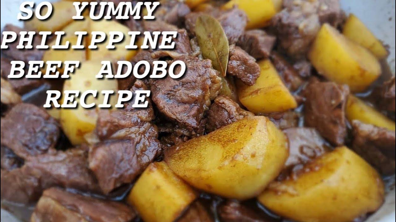 Philippine Beef Adobo Recipe Youtube