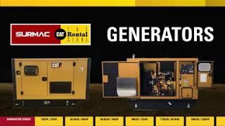 SURMAC CAT Rentals Generators