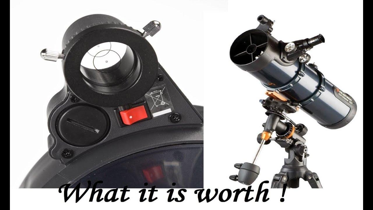 Celestron astromaster 130eq reflector telescope with motor drive
