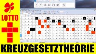 Lotto 6 aus 49 Zahlen Vorhersage !!! Kreuzgesetz Theorie /  Teil 1
