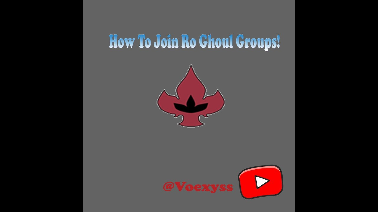 Roblox Ro Ghoul How To Join Groups Logo Youtube