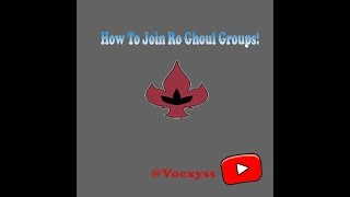 Roblox Ro Ghoul | How To Join Groups! (Logo) !
