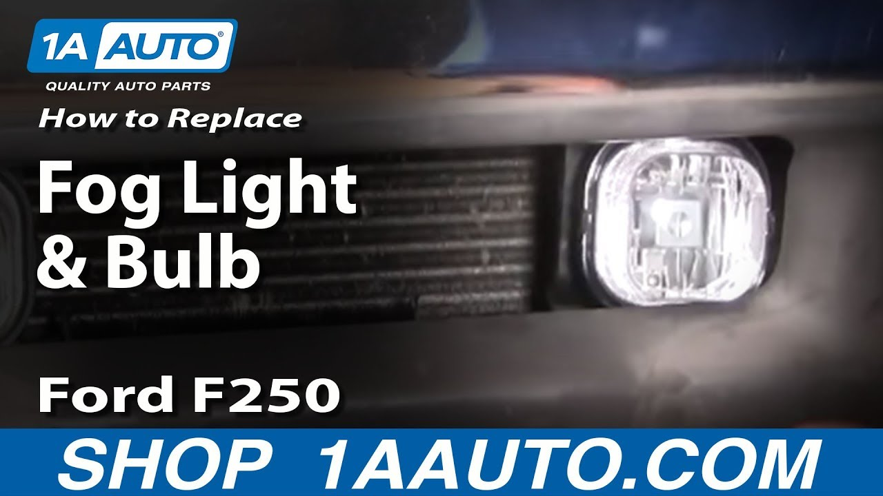 How to Install Replace Fog light and Bulb 01-04 Ford Super Duty F ...