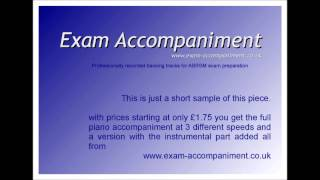 Bach Goes to Town piano accompaniment Clarinet exam