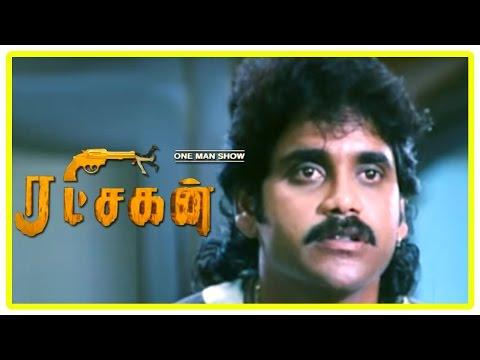 Ratchagan Tamil Movie Scenes | Girish Karnad Reveals His Plans | Nagarjuna Breaks Up With Sushmita