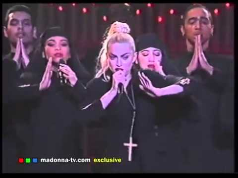 Madna  Like a Prayer Bld Ambiti Tour  from Bost 1990