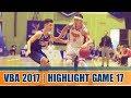 Highlight VBA 2017    Game 17 : Hanoi Buffaloes vs Saigon Heat  28/09