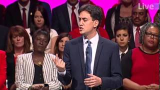 """ED MILIBAND SPEECH HIGHLIGHT - """"People can"""