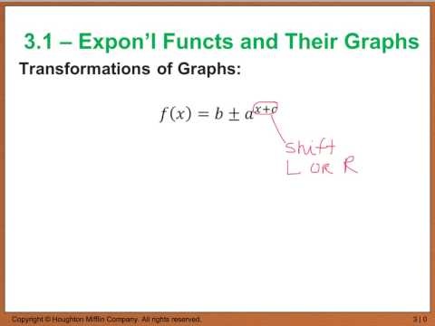 Precalc 3.1 Exponential Functions and Their Graphs