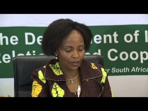 Minister Maite Nkoana Mashabane Adressing African Heads of Diplomatic Missions Accredited to SA