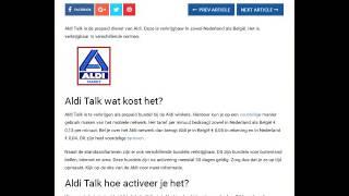 Aldi Talk de prepaid dienst van de Aldi supermarkt.