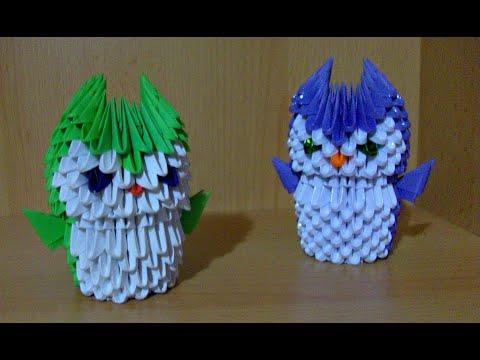 Подробный Мастер Класс Для Начинающих. Модульное Оригами. Сова Подставка Для Ручек и Карандашей