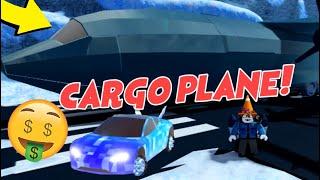 Jailbreak New CARGO PLANE ROBBERY Update (Tesla Roadster, Skydiving, Ice Age Winter Map, Roblox)